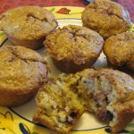 The secret to Christine's muffins is both rhubarb, of course, and black walnut extract.
